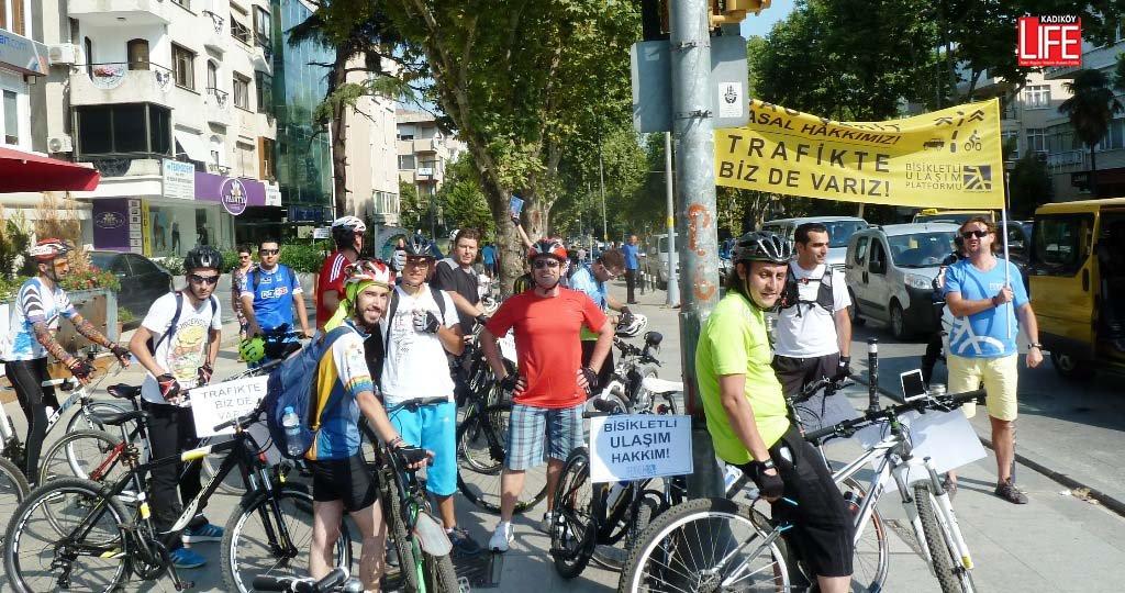 Bisikletli Ulaşım Platformu'ndan 'Trafikte Biz de Varız' Eylemi